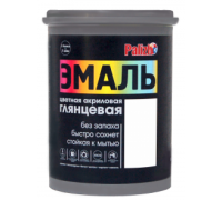 Эмаль акриловая глянцевая Palizh №600 белая 1,0кг