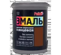 Эмаль акриловая глянцевая Palizh №602 темно-коричневая 1,0кг