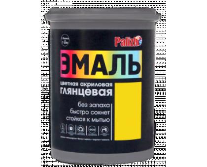 Эмаль акриловая глянцевая Palizh №605 желтая 1,0кг