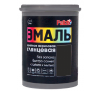 Эмаль акриловая глянцевая Palizh №608 черная 1,0кг