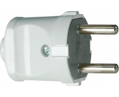 Вилка электрическая (без заземления) 10А белый