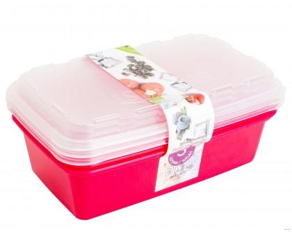 Набор контейнеров для заморозки 1л 3шт Zip сангрия ИК 17454000 Berossi купить