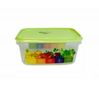 Контейнер пищевой Vitaline 0,5л ИК41238000 салатный Berossi