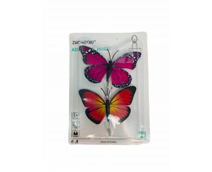 """Крючок """"Бабочки"""" 2шт на блистере (липучка) NA1052-1"""