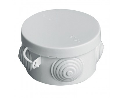 Коробка распаячная ОП 65х40мм крышка IP54 4 выхода TDM