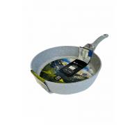 Сковорода Олимп ГРАНИТ серый 280мм глубокая антипригарная без крышки Индукция 298147
