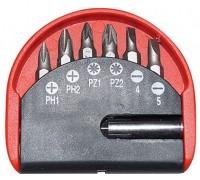Набор бит с магнитным адаптером 7предметов PH. SL. PZ. CrV Политех