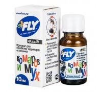 """Препарат для обработки территории от личинок комаров и мух 10мл """"FLY"""""""
