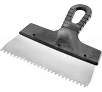 Шпатель Lux нержавеющий 200мм, зубья 10х10мм