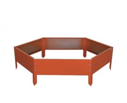 "Ограждение клумб ""Соты"" 0,4х0,15м RAL2004 (оранжевый)"