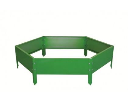 "Ограждение клумб ""Соты"" 0,5х0,15м RAL6018 (ярко-зеленый)"