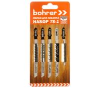 Набор пилок Bohrer Т5-1 для лобзика (дерево/ламинат/пластик) (T101B/T101AO/T101BR/T101D/T144D) 5шт