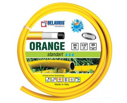 """Шланг поливочный BELAMOS Orange 1/2""""х 25м (Италия)"""