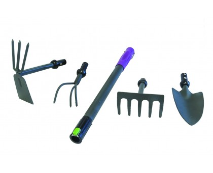 """Набор садовый 5 предметов (совок, рыхлитель, грабли, мотыжка, ручка) """"DON GAZON"""" 126-0005"""