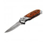 Нож складной автоматический BOYSCOUT деревянная ручка 8,5/14,5см