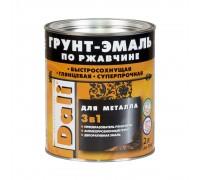 """Грунт-эмаль 3 в 1 по ржавчине """"DALI""""  2л  зеленый мох"""