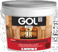 Краска для печей и каминов GOLexpert 140 красно-коричневая 1,0кг
