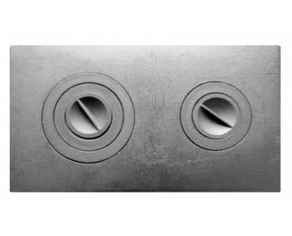 Плита чугунная 2-х комфорочная П2-3 (19,2кг.) 710*410мм купить