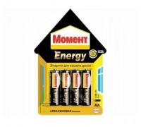 Батарейка МОМЕНТ ENERGY алкал. АА 4шт