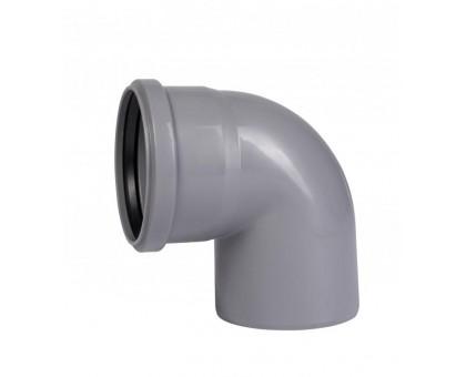 Отвод ПВХ 110х87 с кольцом