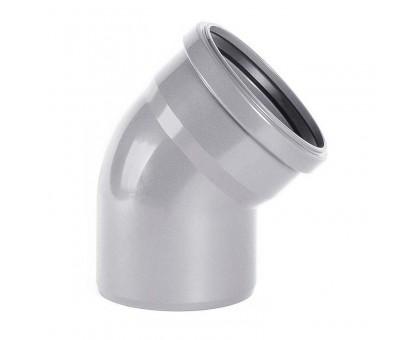 Отвод ПВХ 110х45 с кольцом