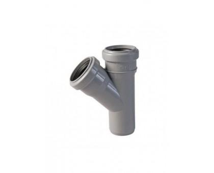 Тройник ПВХ 45 градусов 50х50 с кольцом