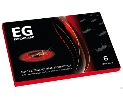 Инсектицид EUROGUARD ловушки от тараканов 6шт