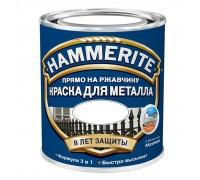 Эмаль по ржавчине HAMMERITE гладкая, белая 0,25л
