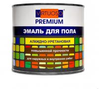 """Эмаль алкидно-уретановая для пола """"VIRTUOSO Premium"""" 1,9кг серая"""