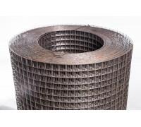 Сетка сварная чёрная 25x25x1,6мм 1,0х25м