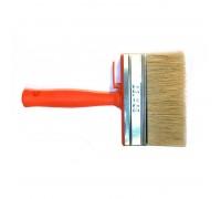 """Кисть ракля Bohrer """"Стандарт"""" 40х140мм натуральная щетина 51мм оранжевая пластиковая рукоятка"""