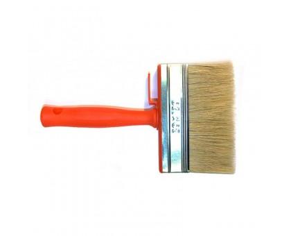 """Кисть ракля Bohrer """"Стандарт"""" 30х120мм натуральная щетина 45мм оранжевая пластиковая рукоятка"""
