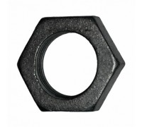 Контрагайка чугунная 15 черная