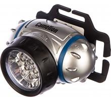 Фонарь Camelion LED 5310-7F3 налобный,металлик, 7LED, 3 режима, 3хААА