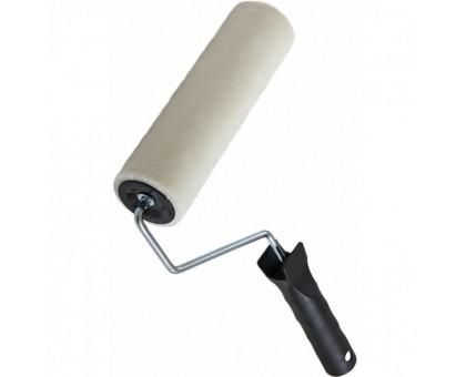 """Валик Bohrer """"Велюр ТОП"""" 180мм d=42мм (ворс 5мм) (натуральная шерсть) с пластиковой ручкой"""