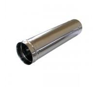 Труба дымоходная d-110мм (0,5) нержавеющая сталь 0,5м