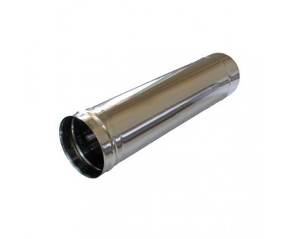 Труба дымоходная d-120мм (0,5) нержавеющая сталь 0,5м
