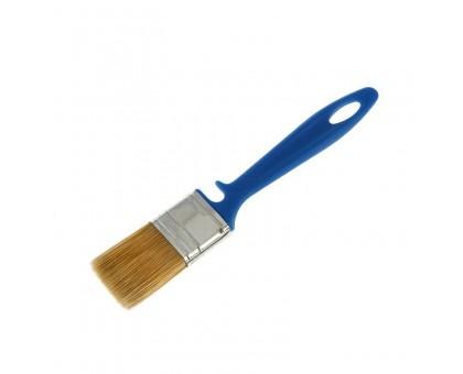 """Кисть плоская Bohrer """"Лаки"""" 25мм искусственная щетина 45х10мм синяя пластиковая рукоятка"""