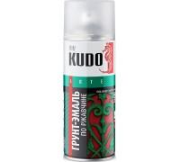 Грунт-эмаль аэрозоль по ржавчине KUDO 520мл черная RAL9005 KU-319005