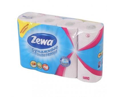 Полотенце бумажное ZEWA кухонное 2-х слойное 4шт