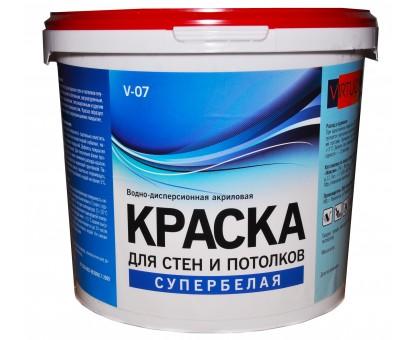 Краска VIRTUOSO V-07 А 14,0кг для стен и потолков, супербелая, морозостойкая