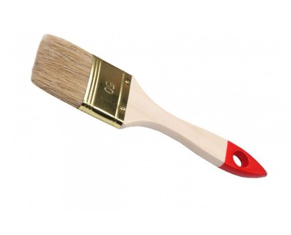 Кисть СТАНДАРТ плоская № 4,0 натуральная щетина, деревянная ручка