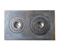 Плита чугунная 2-х комфорочная П2-5 455*760мм большая