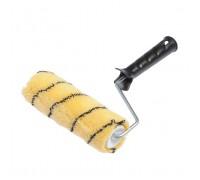 """Валик Bohrer """"Тигр"""" 180мм d=42мм (ворс 12мм)(полиакрил желтый с черной полосой) с пластиковой ручкой"""