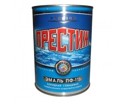 """Эмаль ПФ-115 """"ПРЕСТИЖ"""" белая 0,9кг"""