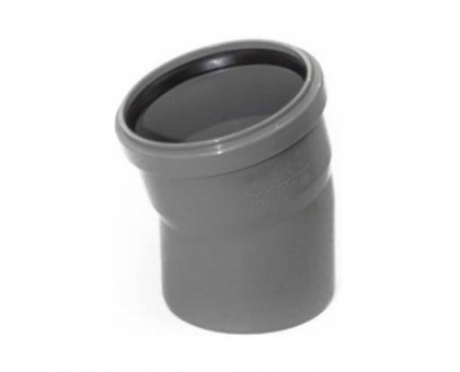 Отвод ПВХ 110х15 с кольцом купить