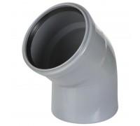 Отвод ПВХ 110х67 с кольцом