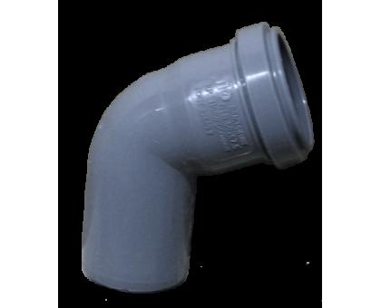 Отвод ПВХ 50х67 с кольцом