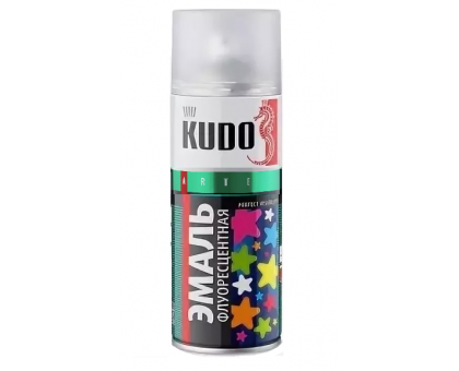 "Краска аэрозоль ""KUDO"" флуоресц. зеленая 520мл KU-1203"