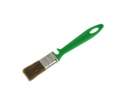 """Кисть плоская Bohrer """"По дереву"""" 70мм смешанная щетина 45х12мм зеленая пластиковая рукоятка"""